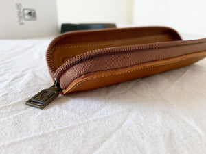 Shibui Single Pen Case in Saddle Brown Pen Case