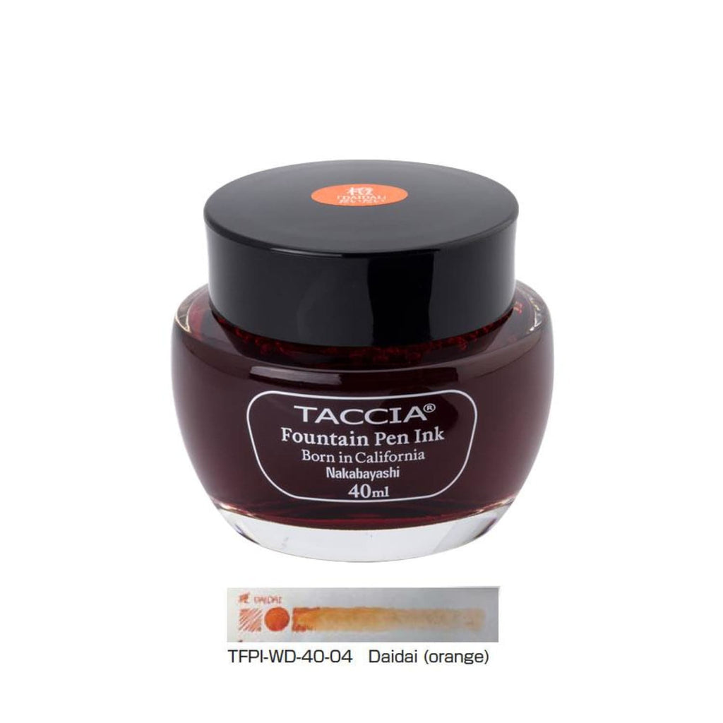 Taccia Bottled Ink in DaiDai Orange - 40 mL Bottled Ink
