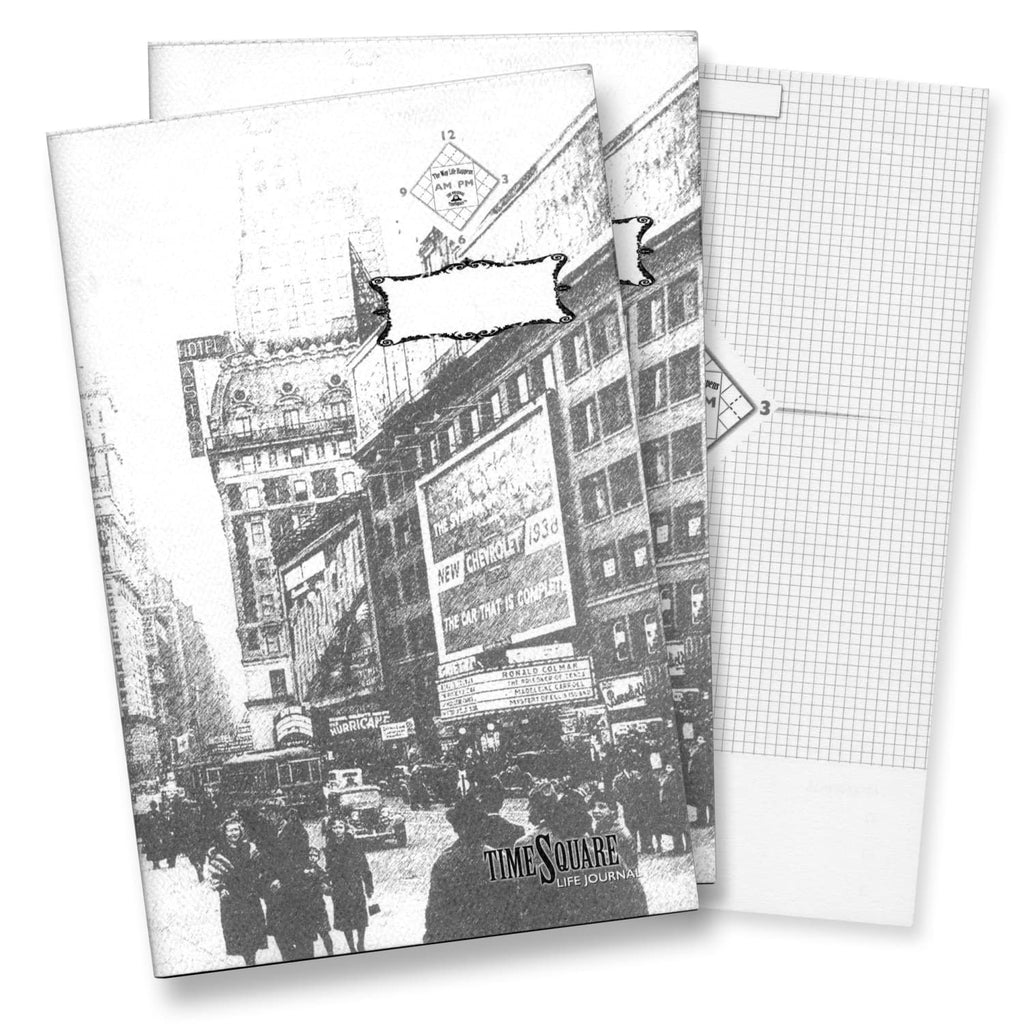 Timesquare Life Journal with Time Management Design Notebook - Pack of 2 Notebook