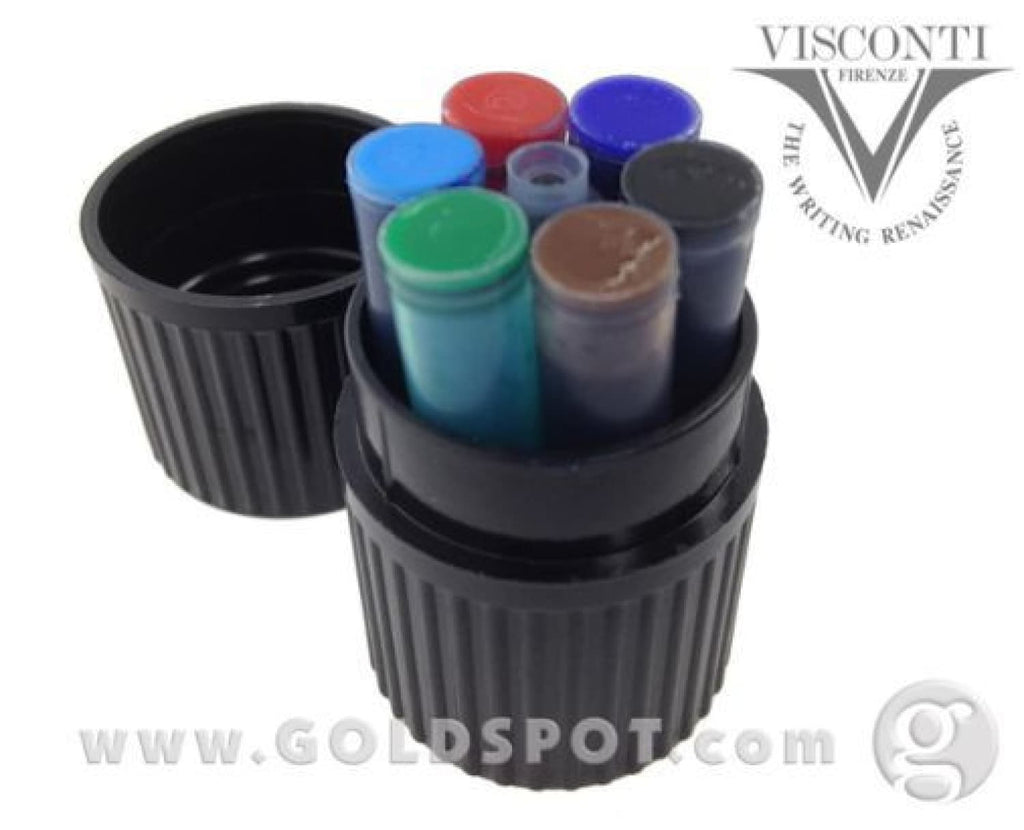 Visconti Ink Cartridges in Multi-Color - Pack of 7 Fountain Pen Cartridges