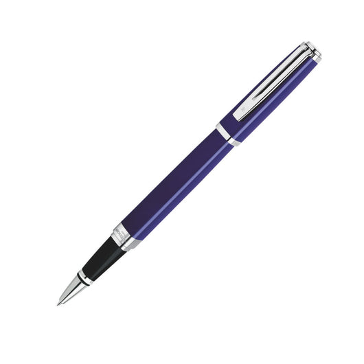 Waterman Exception Rollerball Pen in Slim Blue with Silver Trim Rollerball Pen