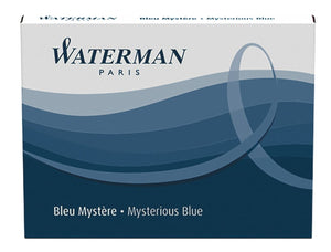 Waterman Ink Cartridges in Mysterious Blue - Pack of 8 Fountain Pen Cartridges