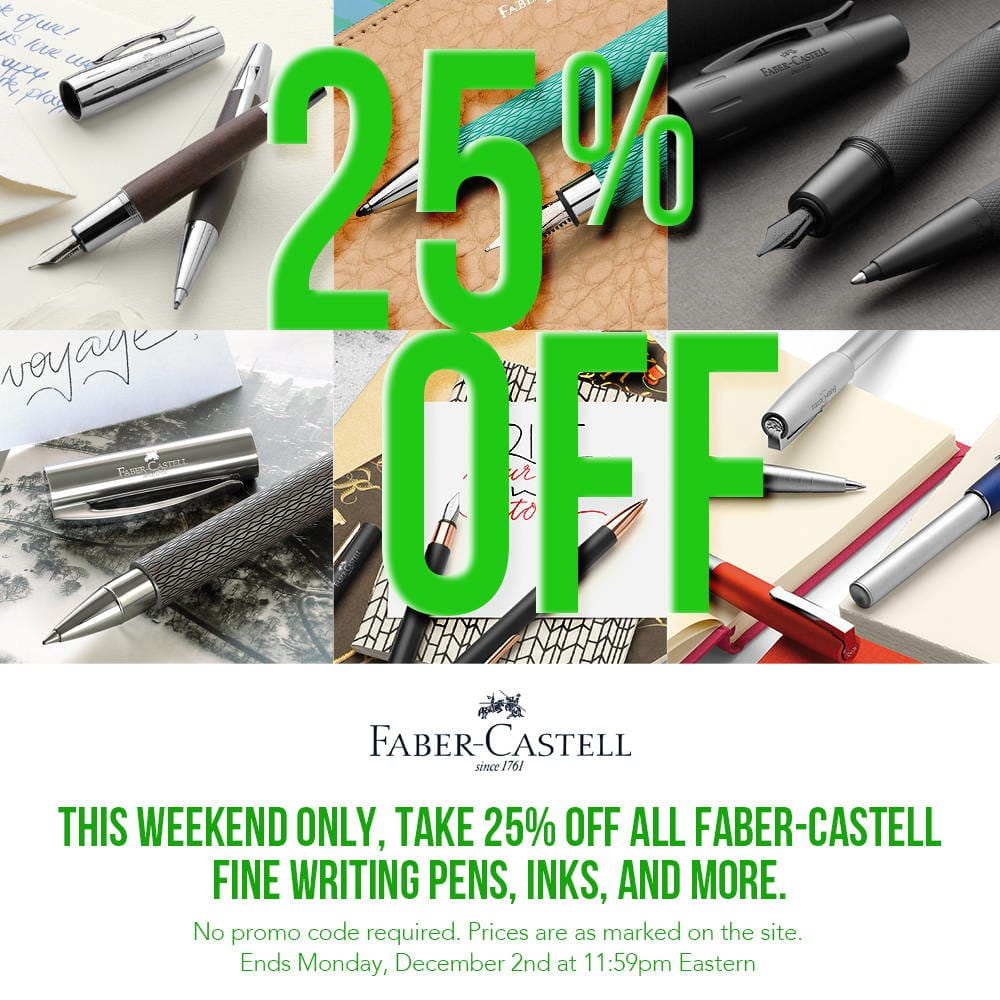 2019 Black Friday Cyber Monday Pen Sale and Giveaway