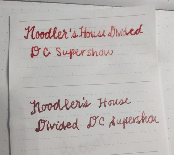 noodlers ink house divided when soaked in water