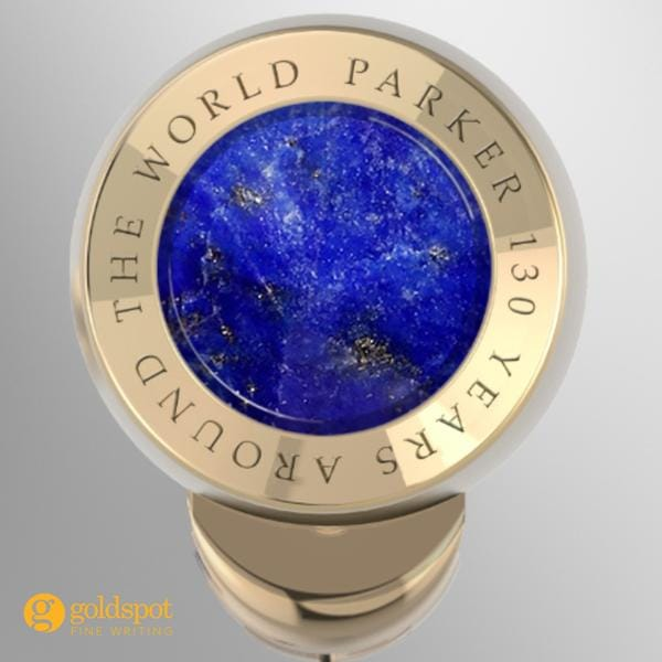 parker duofold limited edition craft of traveling top of the cap lapis lazuli