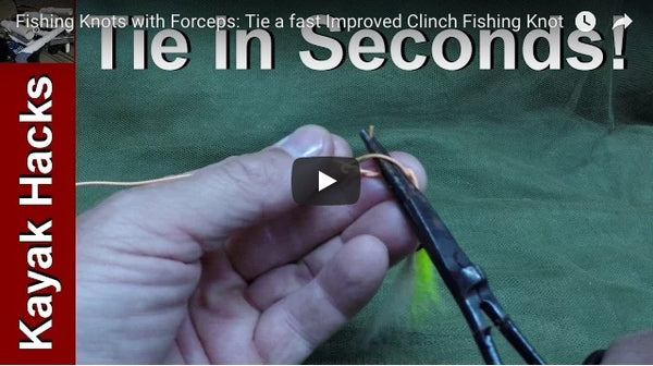 Fly Fishing Clinch Knot with a hemostat or forceps