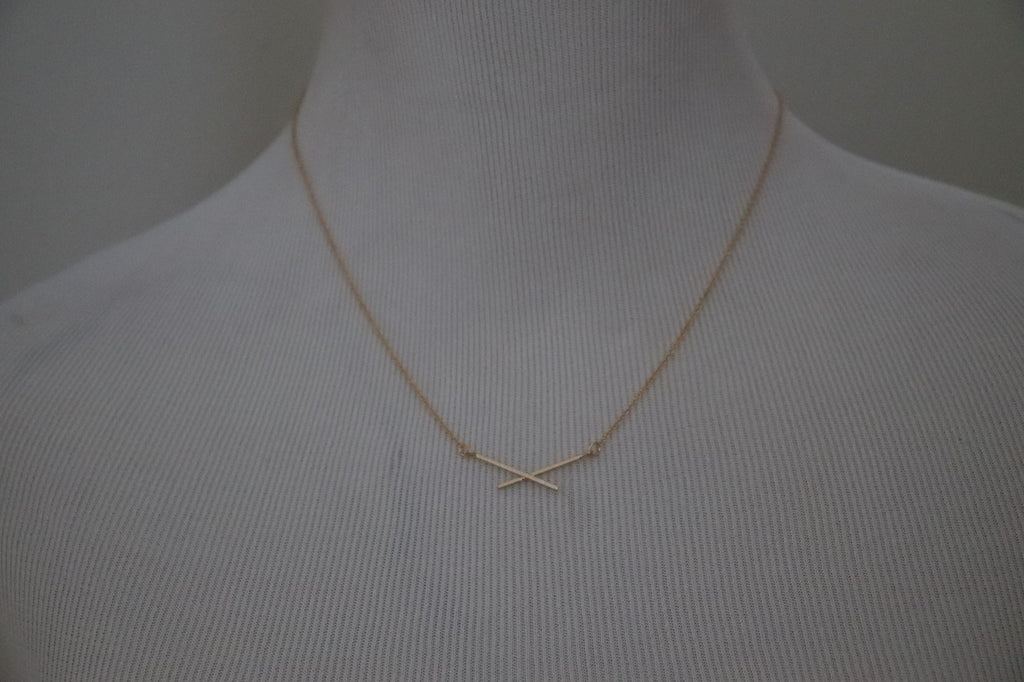 Double Crossed Necklace