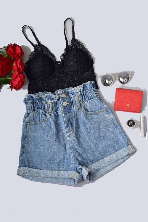 Forever Wild Denim Shorts