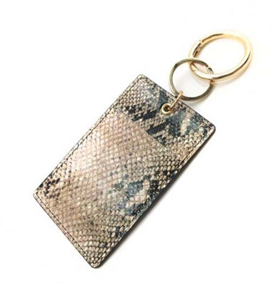Snake Print Genuine Leather Wallet
