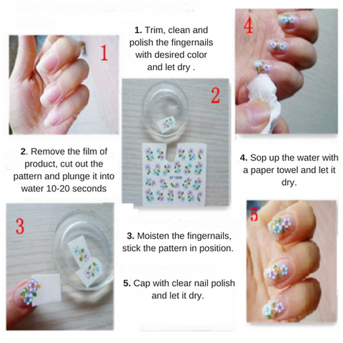 Diy Super Cute Mouse Nail Art Water Transfer Stickers Putiful Store