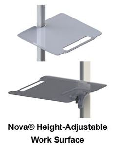 Nova Tablet Cart Accessories - Please call to Order 281-340-2013