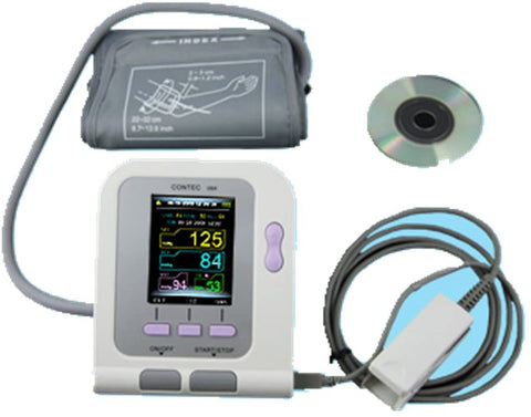 Contec 08A BP, Pulse & SpO2   Meter - LOTS OF 5 $245 ($24.50 ea) - W/STD& XL BP CUFFS - NO SINGLE SALES