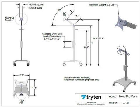 Tryten Nova Pro Temperature Screening Assistant - Hospital Grade - Call for Quotes 281-340-2013
