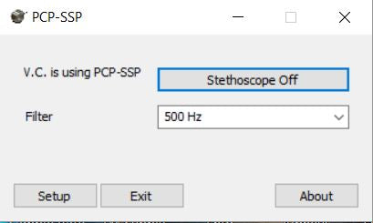 PCP-SSP In-Band Telemedicine Stethoscope Software - For Use with PCP-USB Stethoscope Only