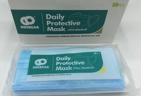 PPE - 3-Ply Protective Mask - Disposable - $.50/pc - FDA Registration Certification