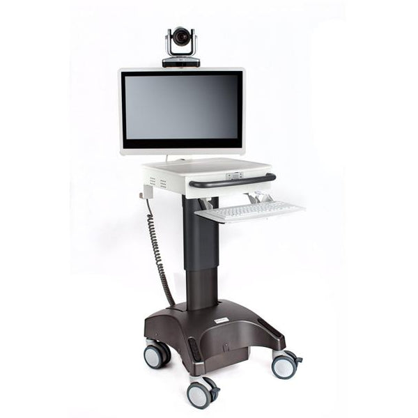 MDrT LCD Powered Clinic PTZ Cart w/ Stethoscope, Otoscope, ExamCam - Call for Quote