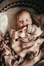 Organic cotton + bamboo muslin swaddle - Aster
