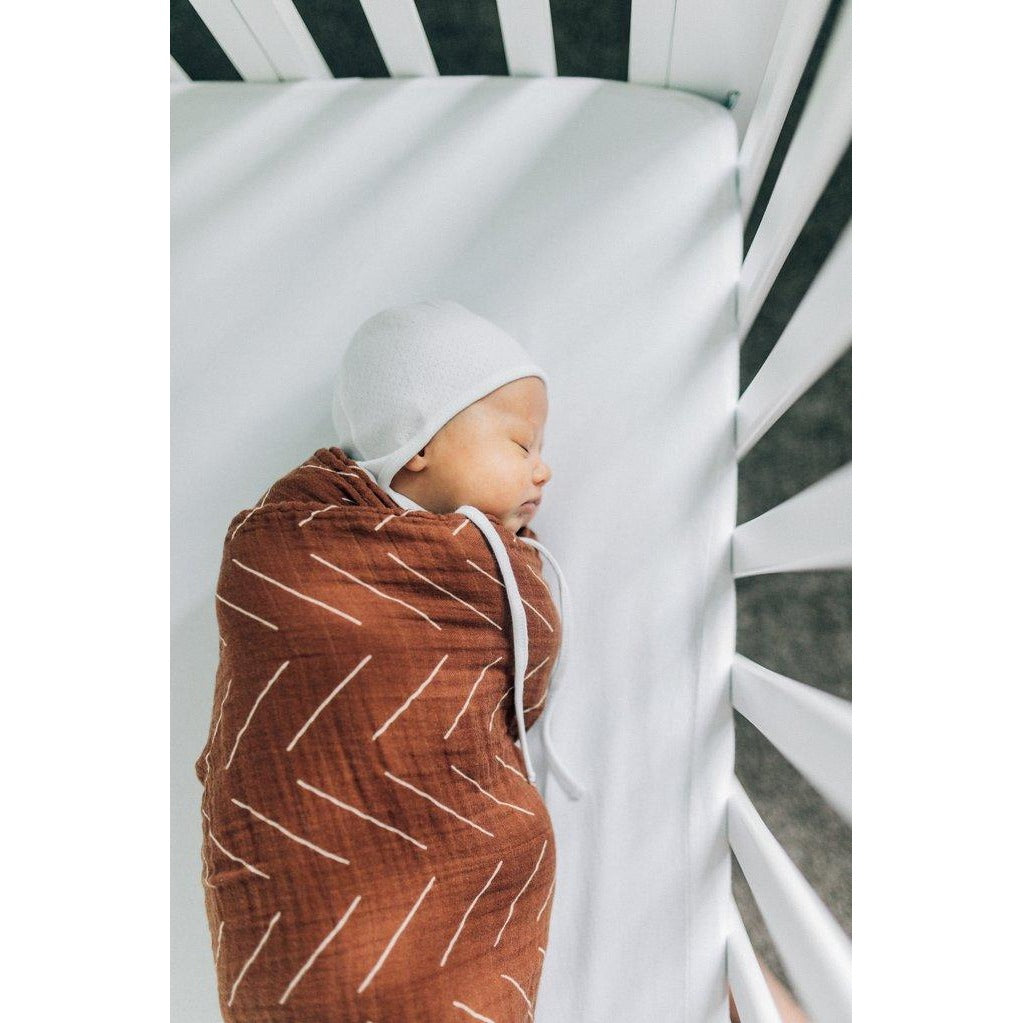 Rust Mudcloth Muslin Swaddle - Boutique Wanderlust