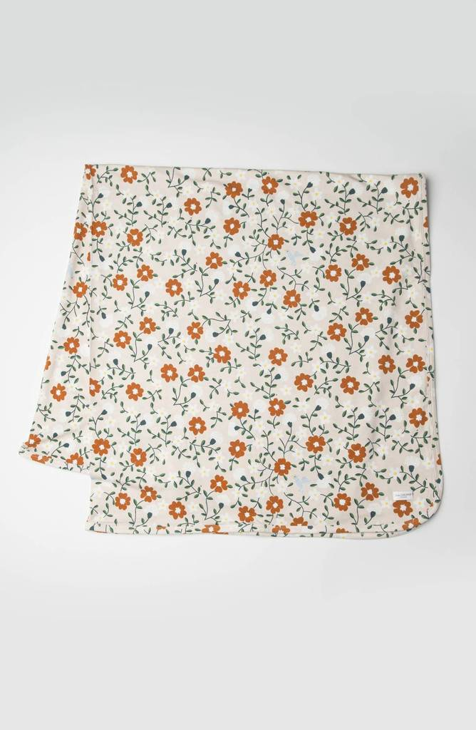 Stretch Knit Blanket in TENCEL™ - Flower Vine