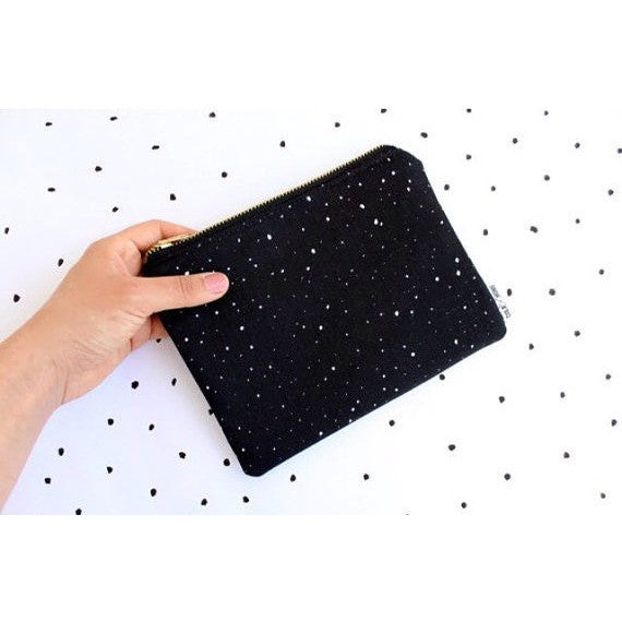 Multi Purpose Pouch - White dots - Boutique Wanderlust