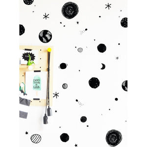 Scribbled Space Compilation Solid - Wall Decal - Boutique Wanderlust