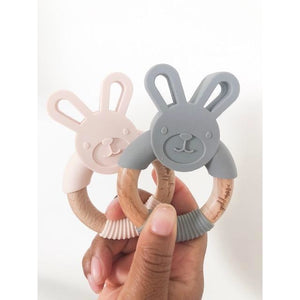 Bunny Silicone Teether - Nude - Boutique Wanderlust