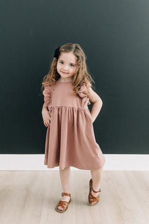 Blush Cotton Ruffle Dress