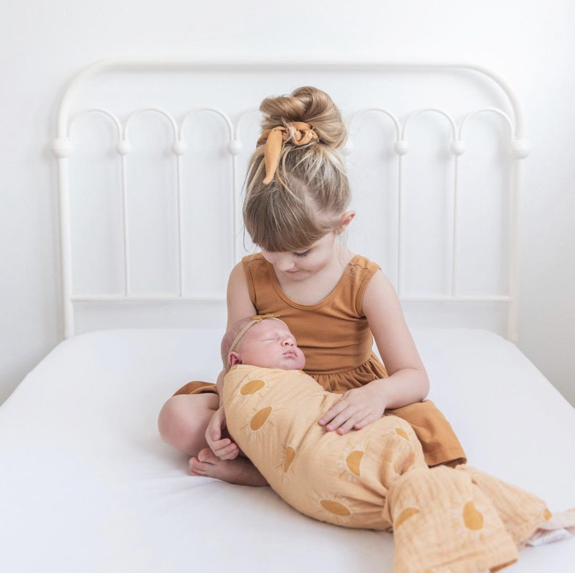 Golden Hour Muslin Swaddle