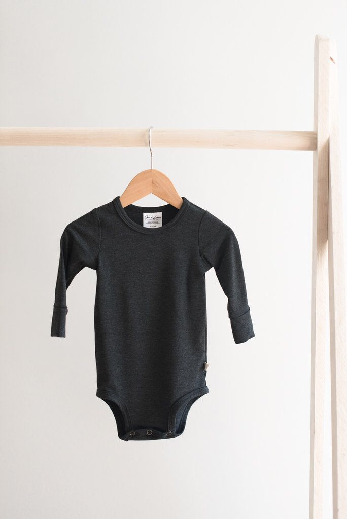 Long Sleeve Onesie - Charcoal