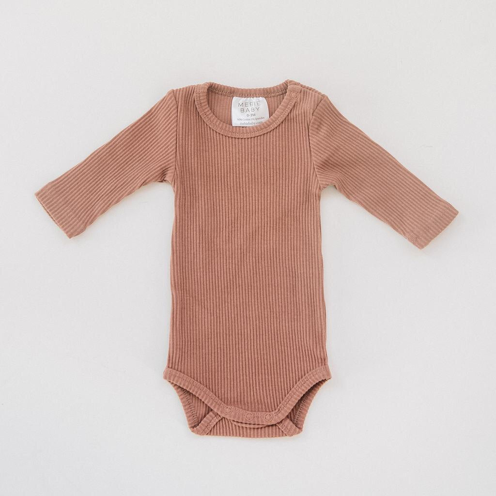 Ribbed Bodysuit / Blush