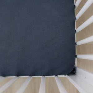 Charcoal Stretch Crib Sheet
