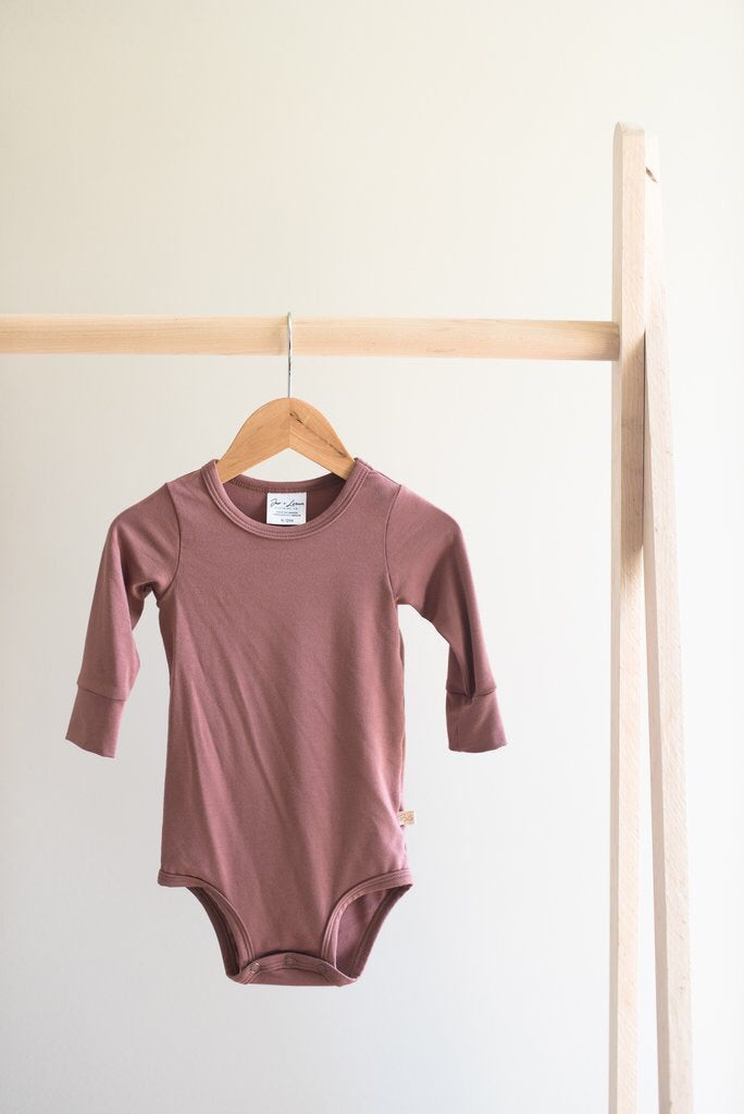 Long Sleeve Onesie - Rose