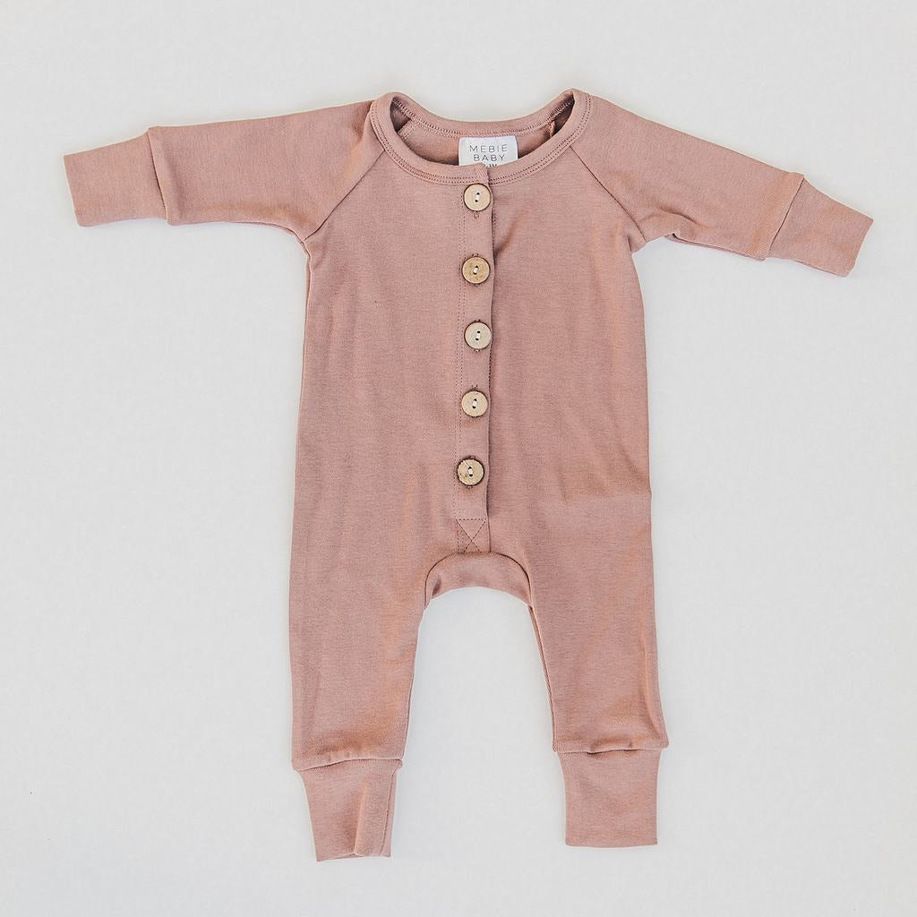 Button Cotton Blush Romper (Pre-Order)