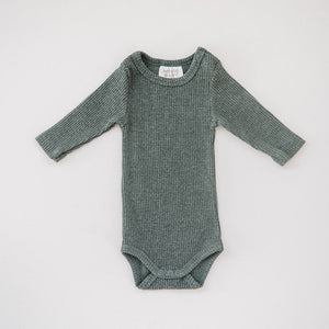 Ribbed Bodysuit / Heather Charcoal