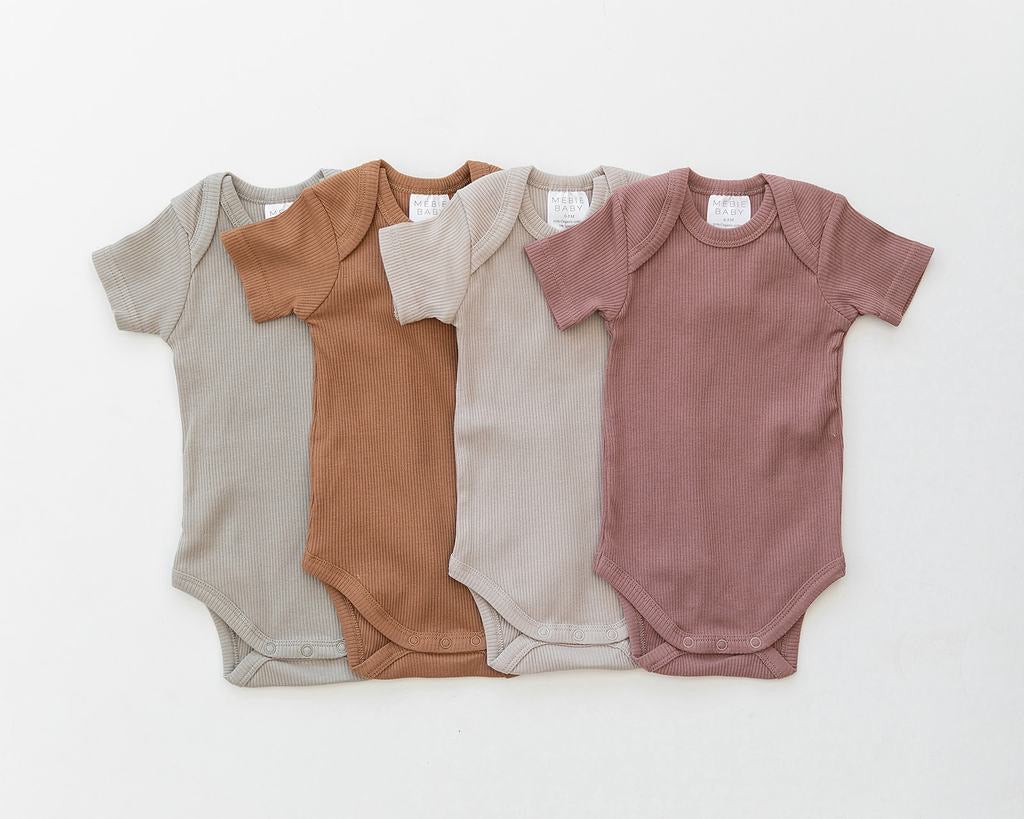 Sagebrush Organic Cotton Ribbed Bodysuit