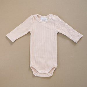 Ribbed Bodysuit / Cream