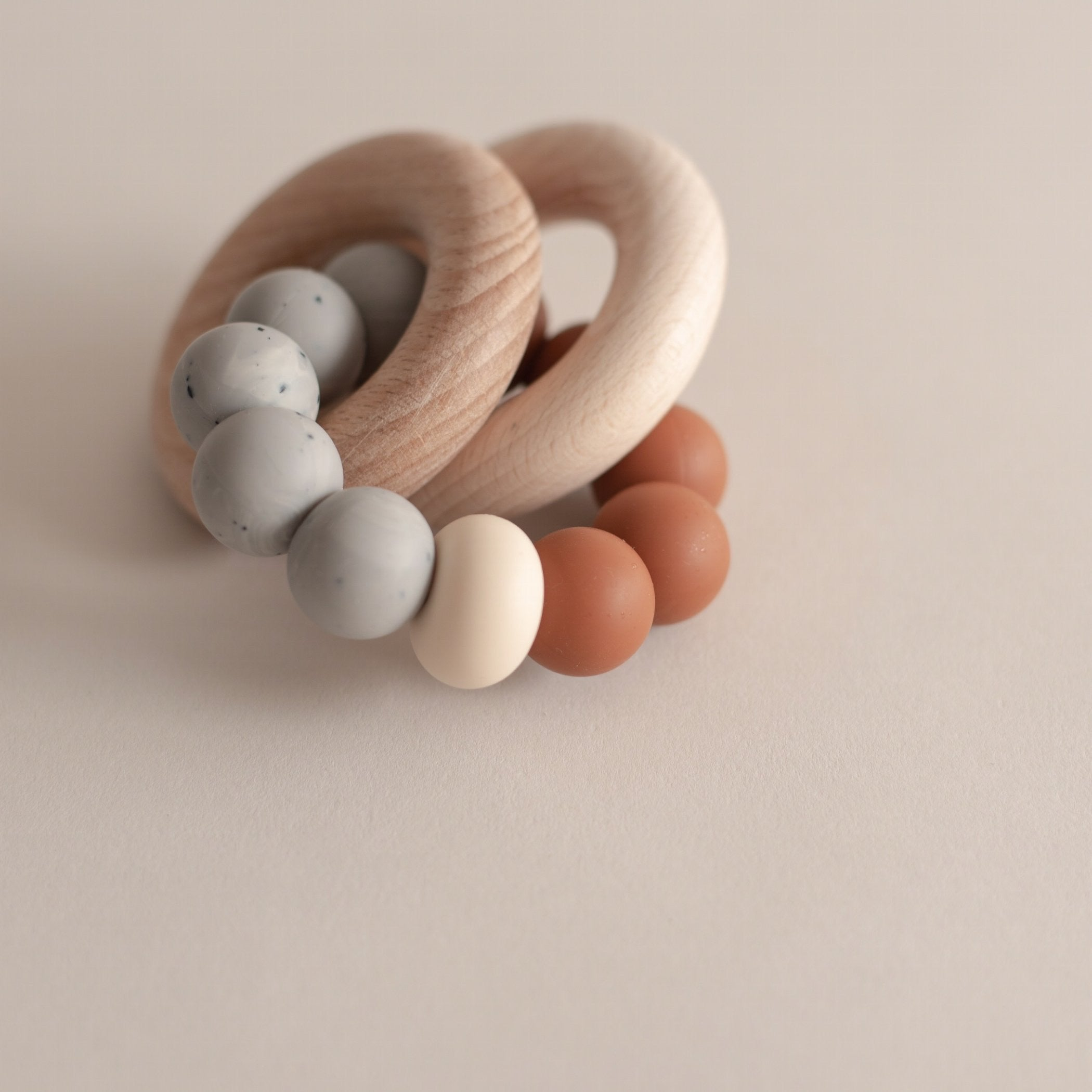 Otherware Duo Teether - Fleetwood- Clay/Stone