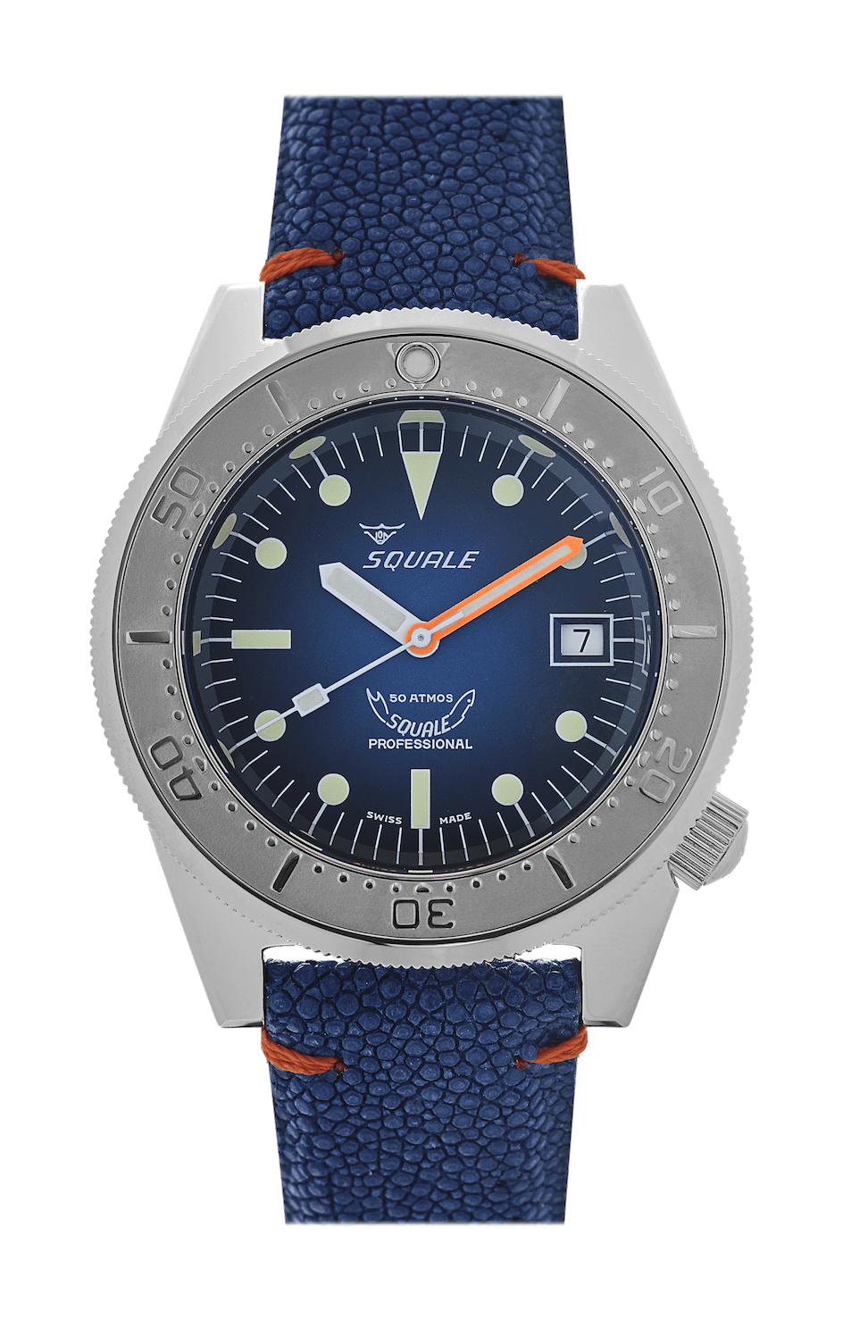 Squale 1521 50 ATMOS Blue Ray Polert - Watchus