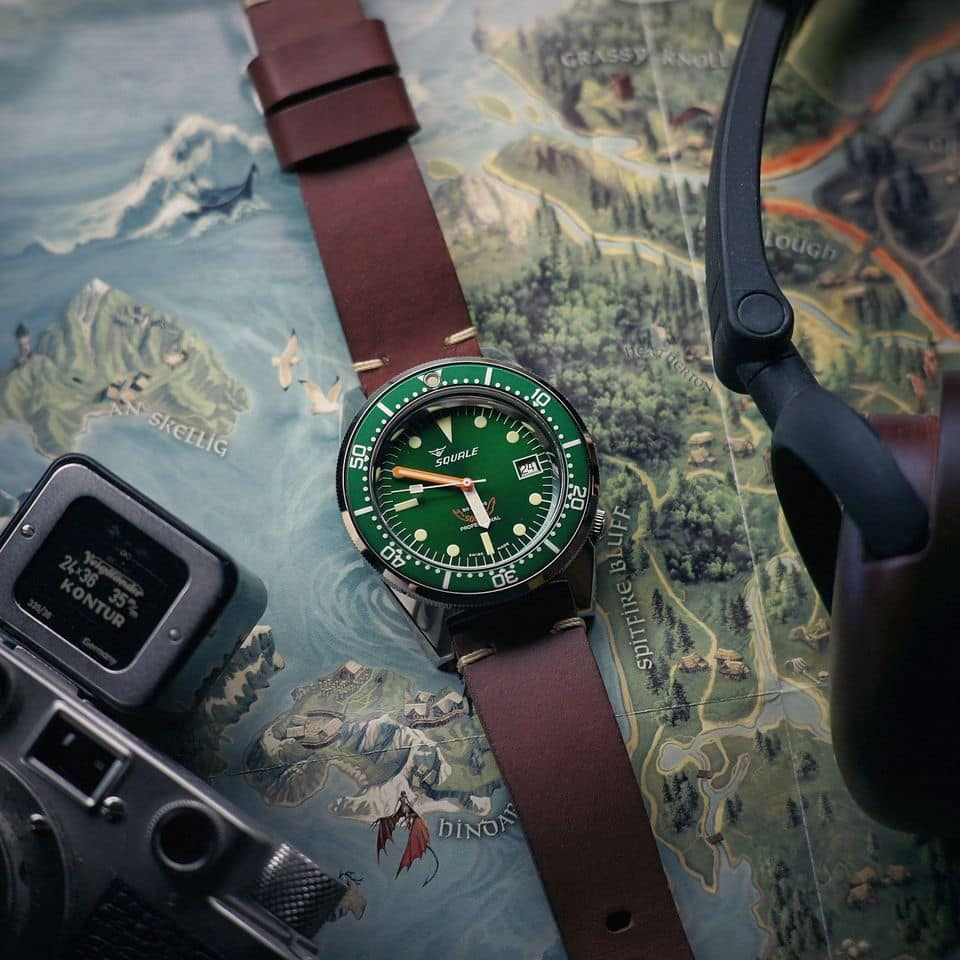 Squale 1521 50 ATMOS Grønn Limited Edition - Watchus