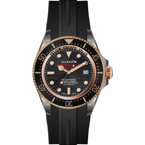 OceanX Sharkmaster 300+ Swiss Made - SMSB321 - Watchus