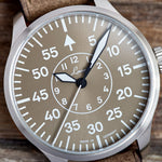 Laco Flieger - Aachen Taupe Limited Edition 39MM - Watchus