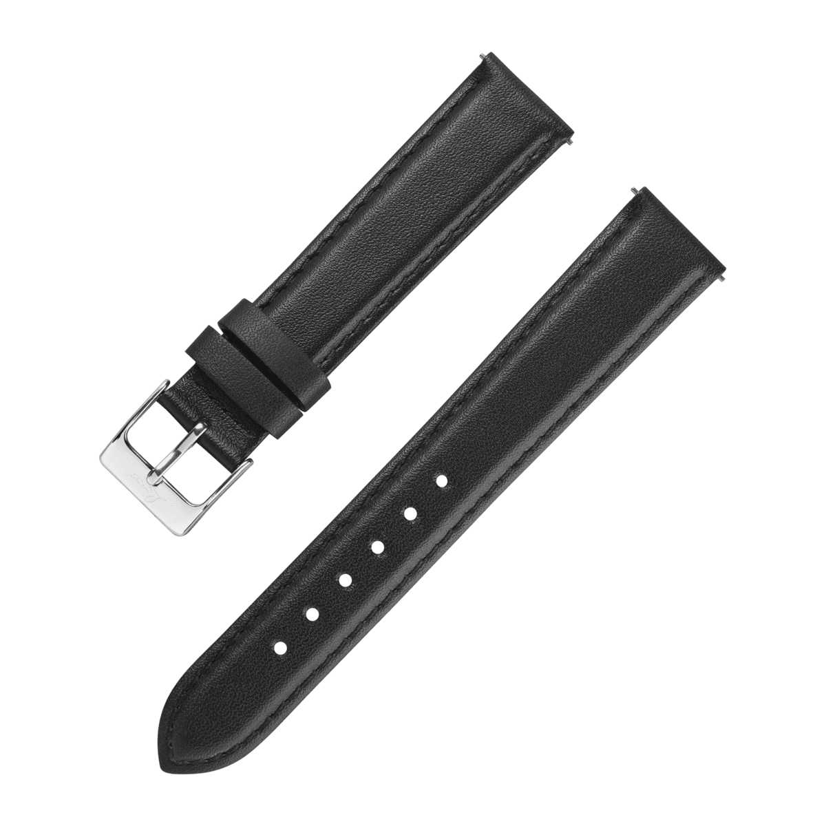 Laco Skinnrem Sort 18MM - Watchus