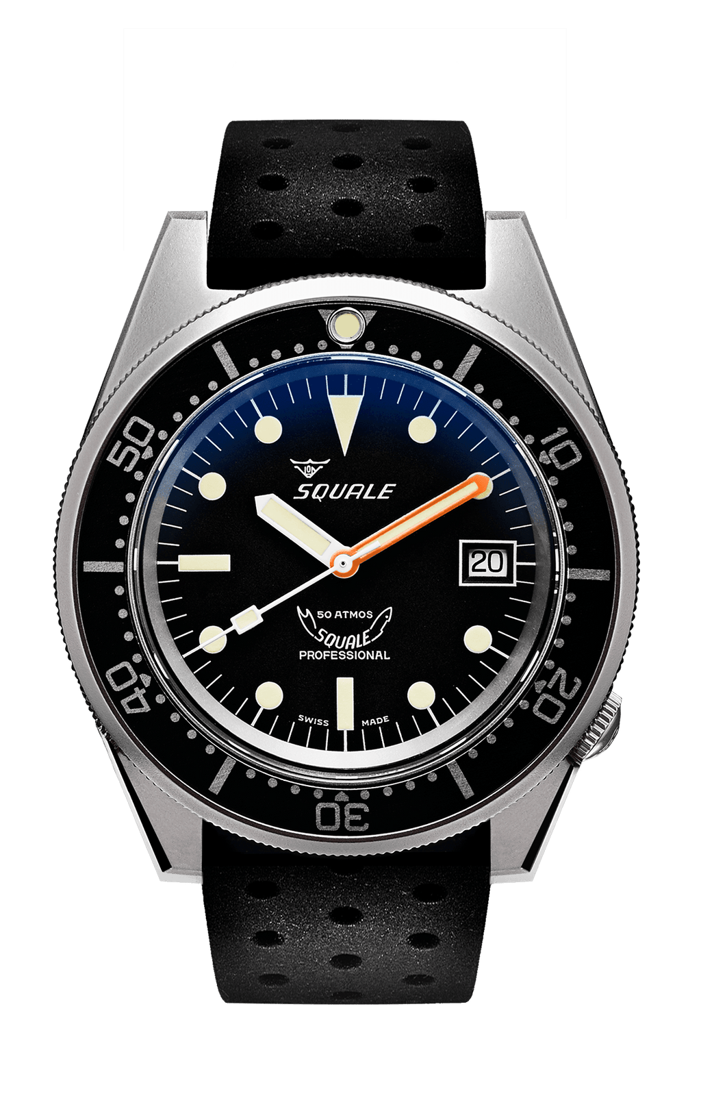 Squale 1521 50 ATMOS Sort Matt - Watchus