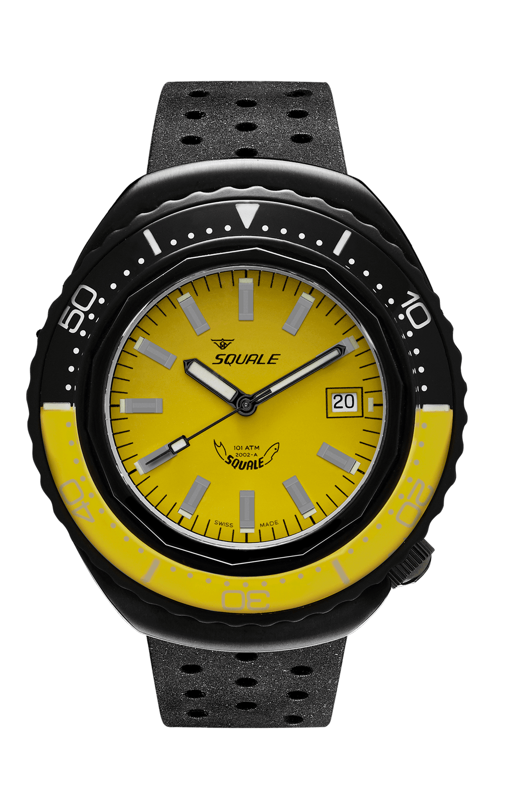 Squale 2002 101 ATMOS Gul/sort PVD - Watchus