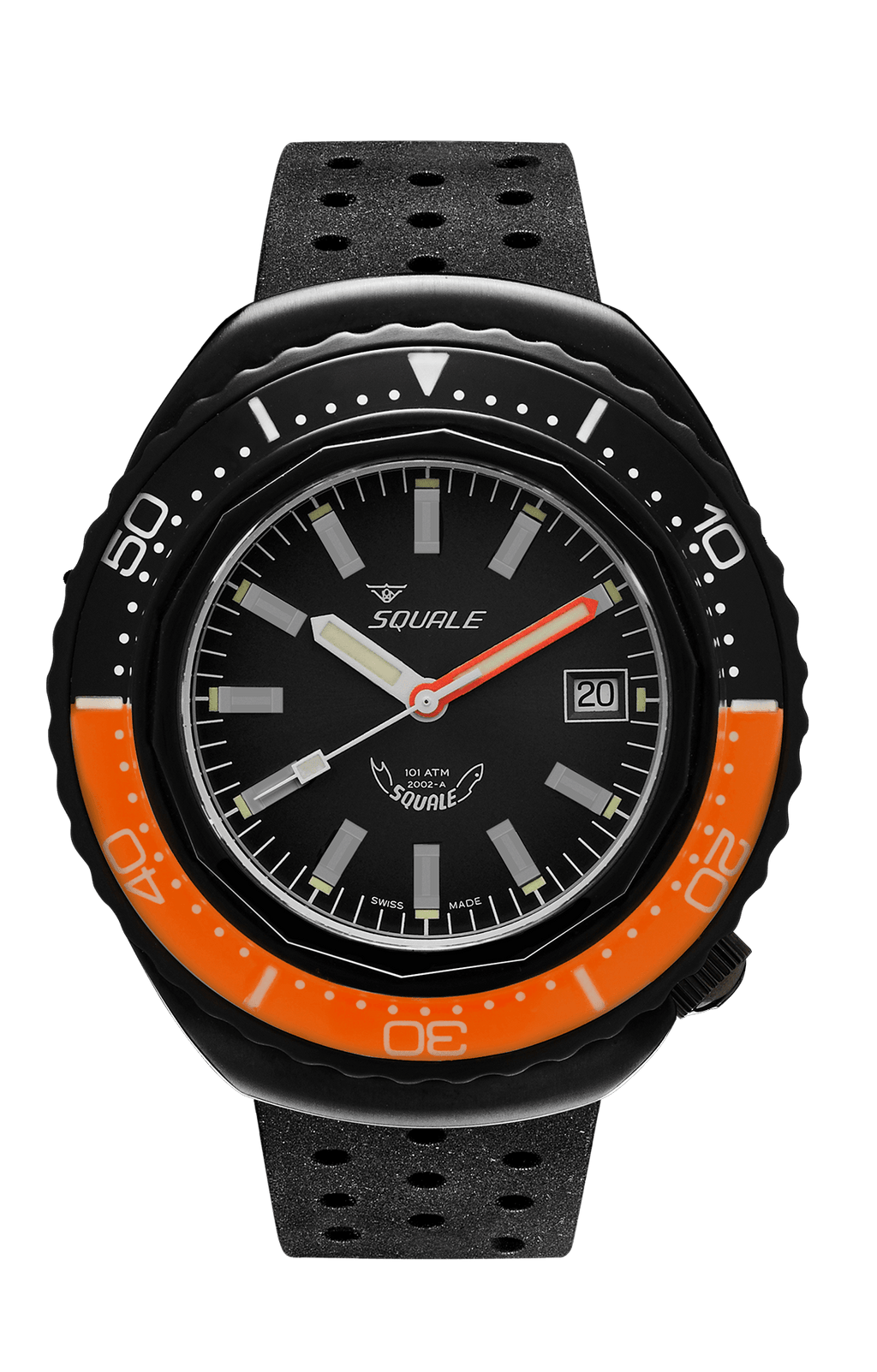 Squale 2002 101 ATMOS Oransje/sort PVD - Watchus