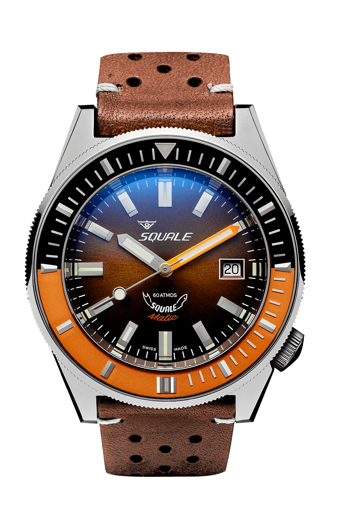 Squalematic 60 ATMOS Brun Polert - Watchus