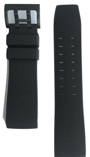 Hamilton Khaki BelowZero Black Rubber 24mm Strap Band for watch H78585333 - WATCHBAND EXPERT