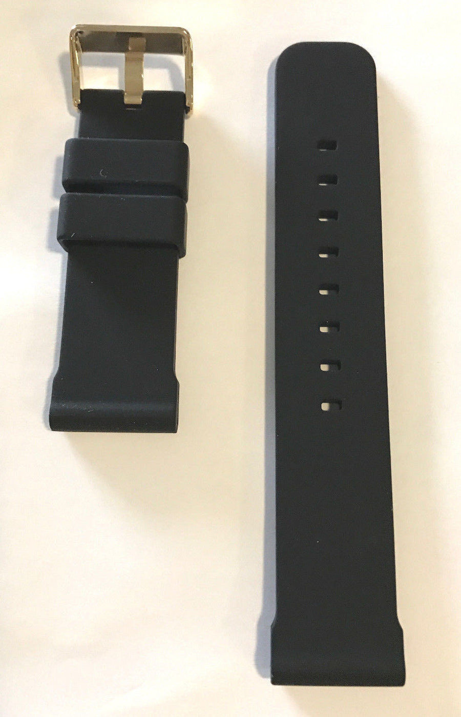 Bulova Marine Star 24mm Black Rubber Band Strap for 98B278 - WATCHBAND EXPERT