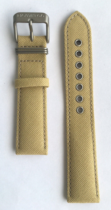 Hamilton Khaki Field Beige Canvas 20mm Band Strap for H69419933, H69419363 - WATCHBAND EXPERT