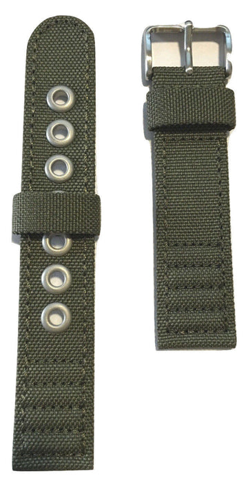 Citizen Green Fabric Canvas Strap Band for AT0200-05E - WATCHBAND EXPERT